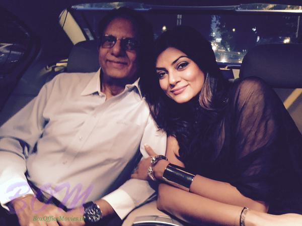 Sushmita Sen with Daddy - family picture