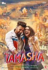 Tamasha movie poster released on 19 Sep 2015