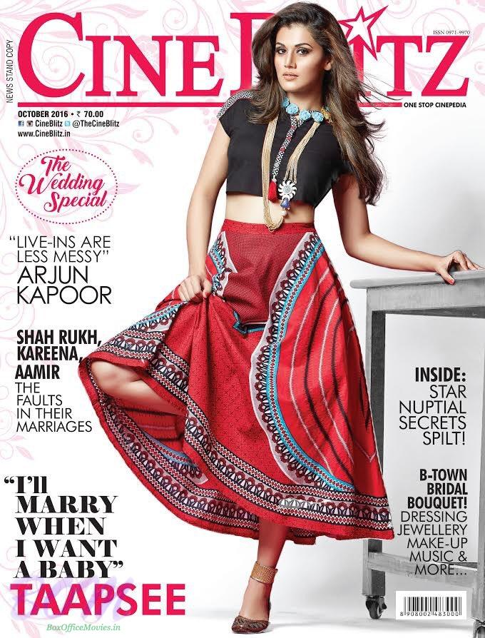 Taapsee Pannu Cover Girl Oct 2016 CineBlitz Magazine