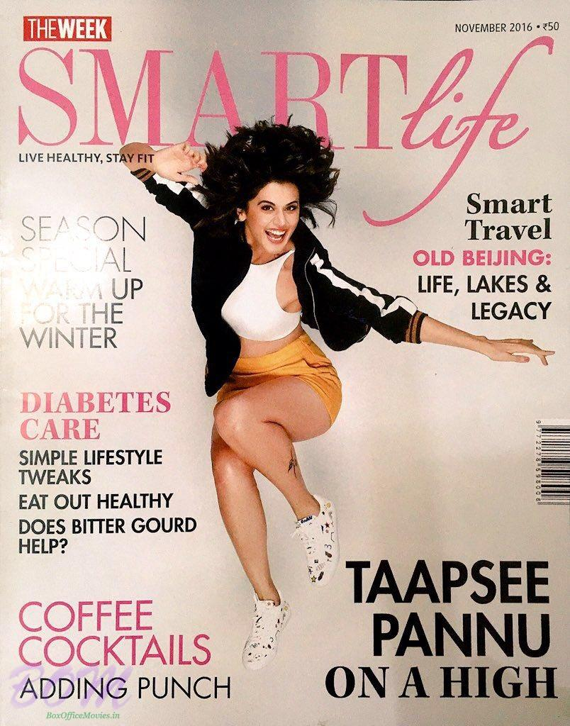 Taapsee Pannu cover girl for Smart Life Nov 2016 publication