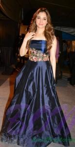 Tamannaah Bhatia looking beautiful in this royal blue color gown outfit
