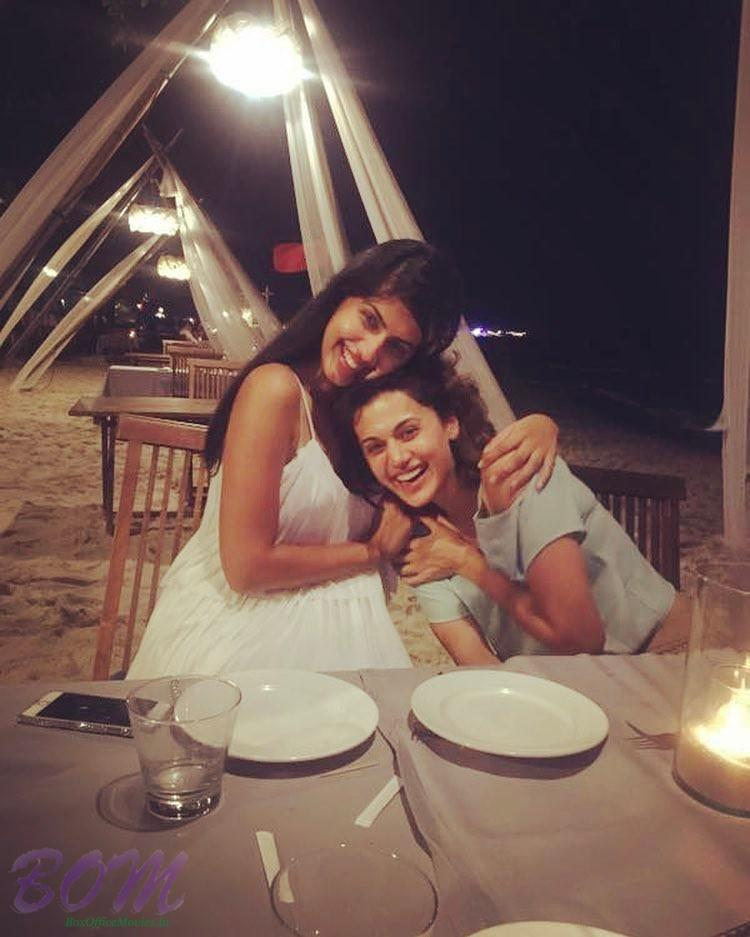 Tapasee Pannu funny hug and those laughs from Koh Samui