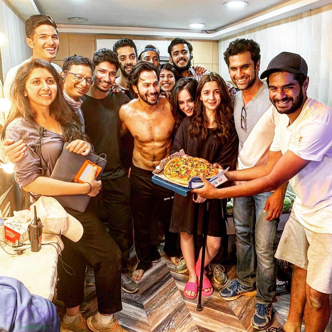 Team Kalank concludes their action schedule and celebrates with a pizza party