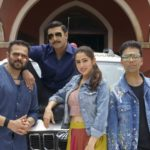 Ranveer Singh with Sara Ali Khan, Rohit Shetty and Karan Johar