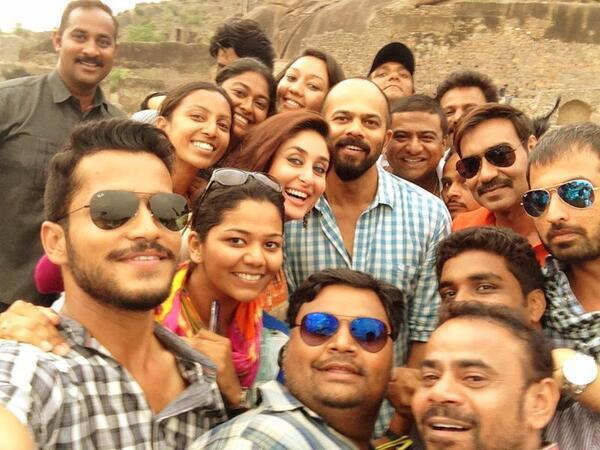 Team Singham Returns - Ajay Devgn, Kareena Kapoor, Rohit Shetty and more