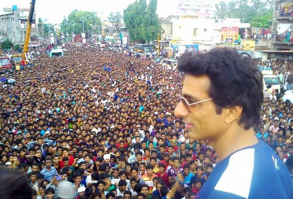 The Sonu Sood effect - unbelievable JAG. He says 'Thank u people of Amravati for ur love. '