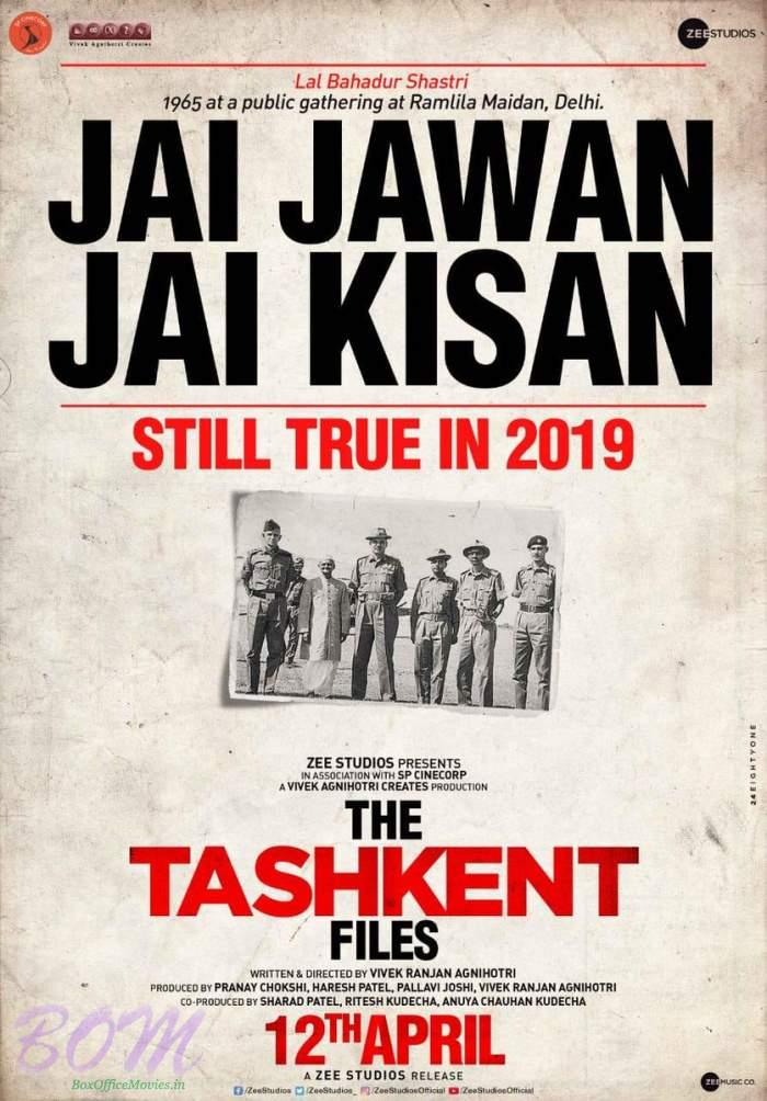 The Tashkent Files movie releasing on 12 April 2019 - Watch Poster