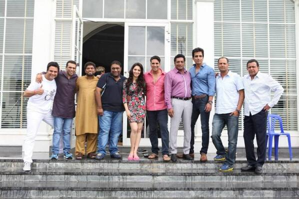 The entire team of upcoming movie Its Entertainment in Bangkok including Akshay Kumar, Sonu Sood and others