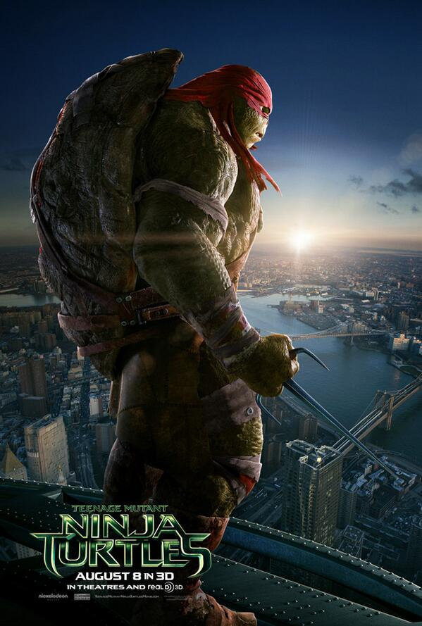The new NINJA TURTLES. Ripped and muscular not the silly padded ones . Release date August 8 2014