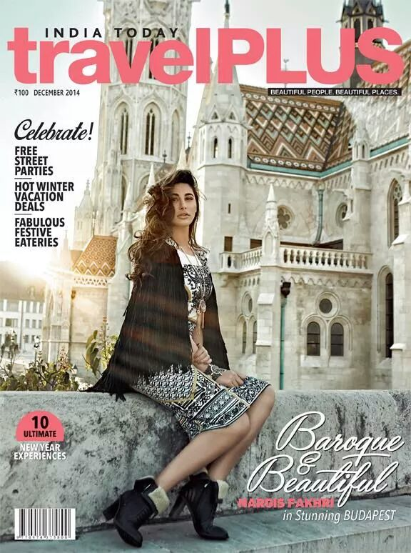 The stunning Nargis Fakhri takes around beautiful Budapest wid the Dec issue of IndiaTodayTravelPlus