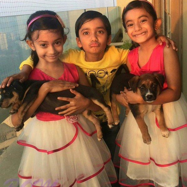 Three kids of Farah Khan – 8 years old in this pic