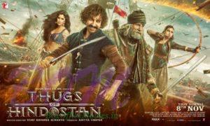 Thugs Of Hindostan movie poster with release date 8 Nov 2018