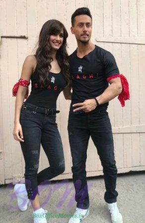 Tiger Shroff and Disha Patni when started promotion of Baaghi 2