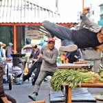 Tiger Shroff doing a risky stunt while shooting for Baaghi movie