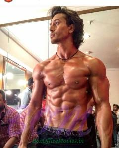 Tiger Shroff just before to perform on stage for Miss India 2016