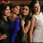 Together awesome bollywood beauties Priyanka Chopra, Jacqueline Fernandez, Shraddha Kapoor and Nargis Fakhri