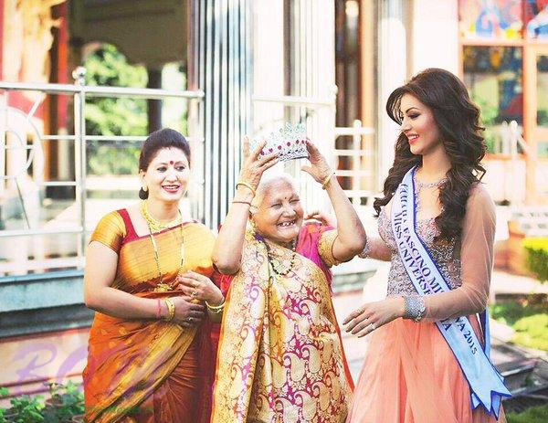Urvashi Rautel with her Mother and Grand Mother