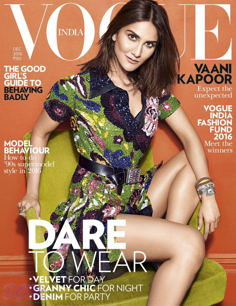 Vaani Kapoor cover girl for Vogue India Dec 2016 issue