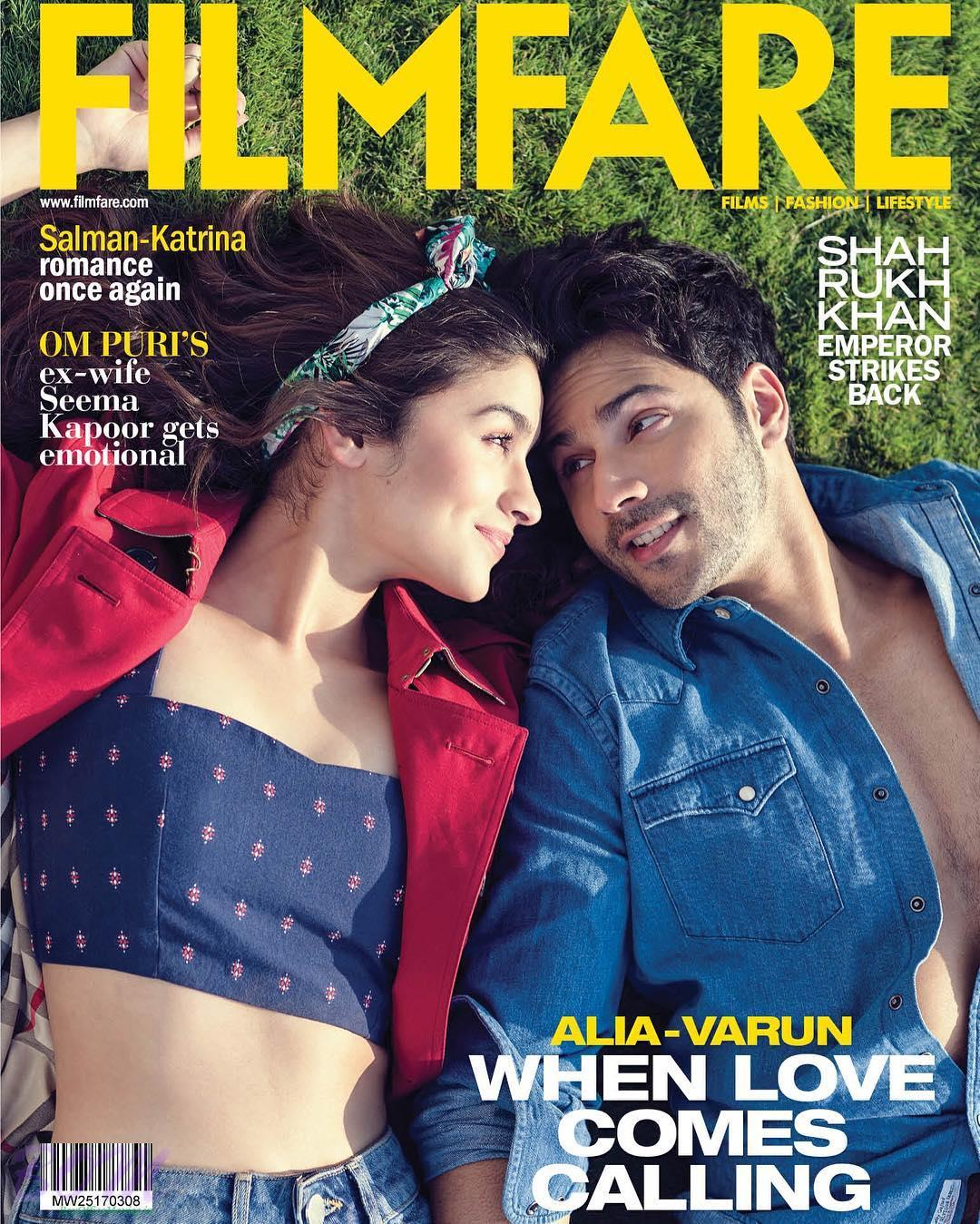Varun Dhawan and Alia Bhatt Cover boy and girl for Filmfare Magazine