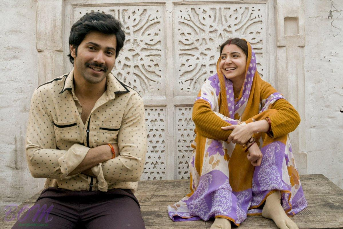 Varun Dhawan and Anushka Sharma as Mauji and Mamta from Sui Dhaaga