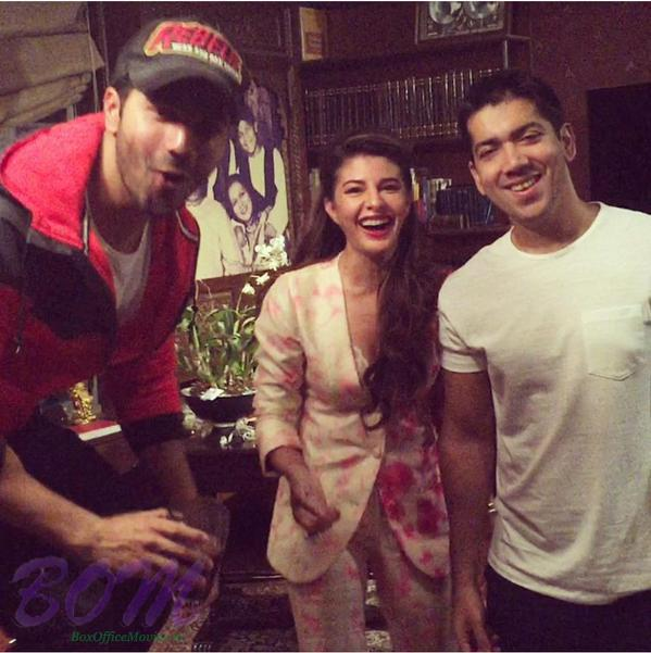 Varun Dhawan and Jacqueline Fernandez during the workshop of Dishoom movie