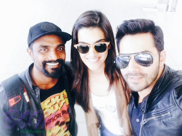 Varun Dhawan and Kriti Sanon shooting for the their first song in Bulgaria