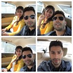 Varun Dhawan and Yami Gautam while on the way to kamala Nehru college at sirifort