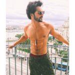 Varun Dhawan at Budapest while training hard for action scenes