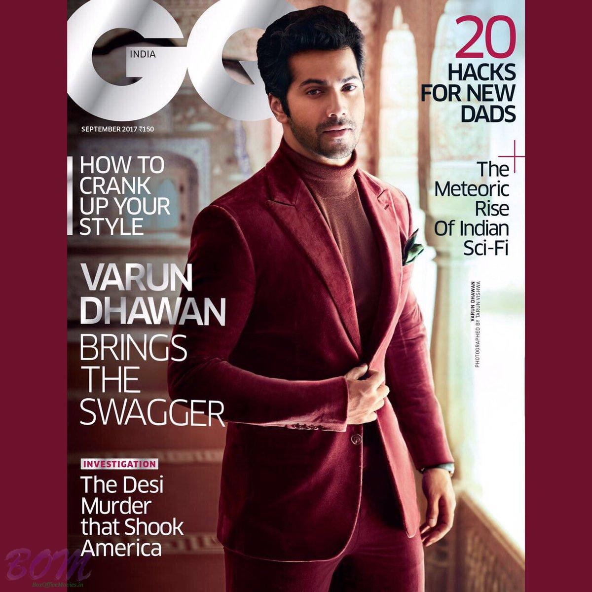 Varun Dhawan cover boy for GQIndia magazine for Sep 2017 issue