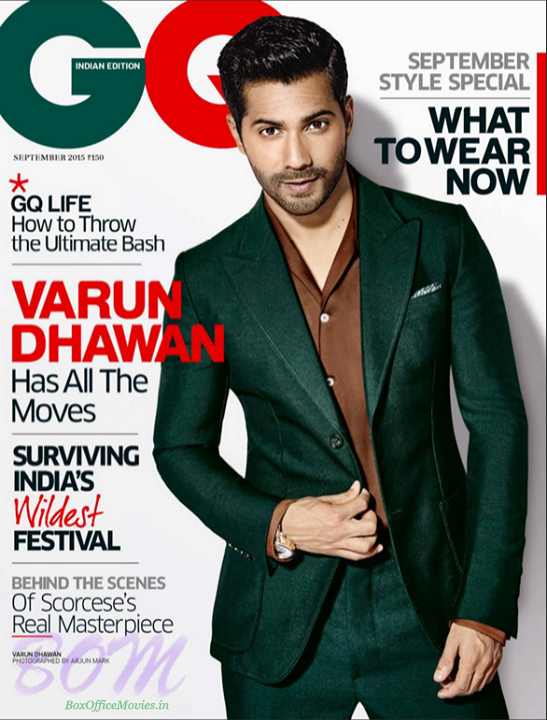 Varun Dhawan cover page boy for GQ India September 2015 issue