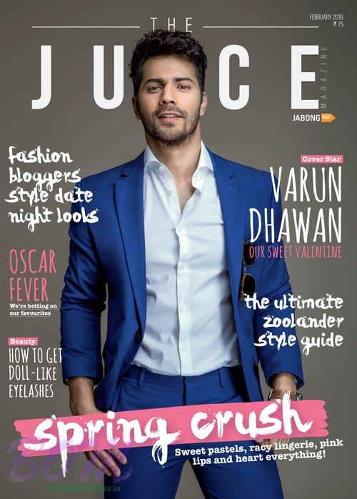 Varun Dhawan cover page boy of JUICE Magzine Feb 2016 issue