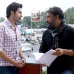 Varun Dhawan discussing with Shoojit Sircar for OCTOBER movie