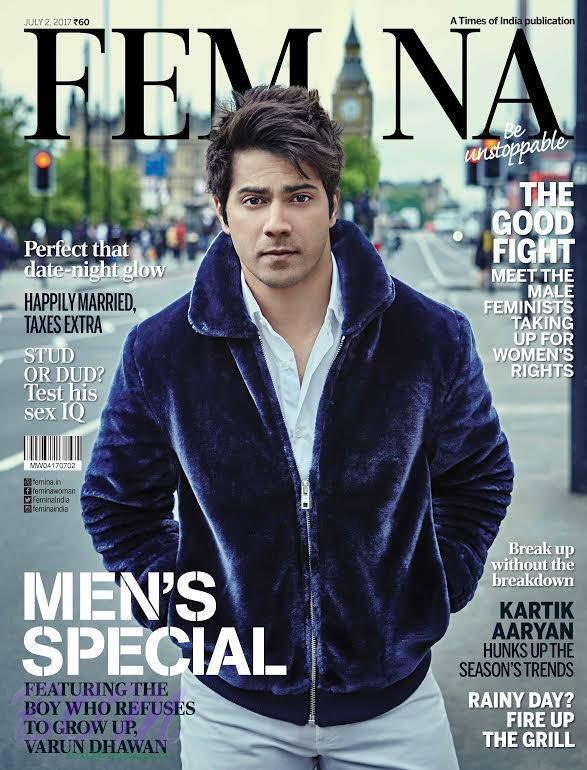 Varun Dhawan first cover boy picture for Femina India July 2017 issue