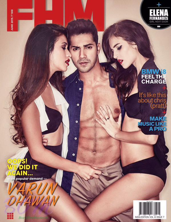 Varun Dhawan on the cover page of FHM Magazine June 2015 issue