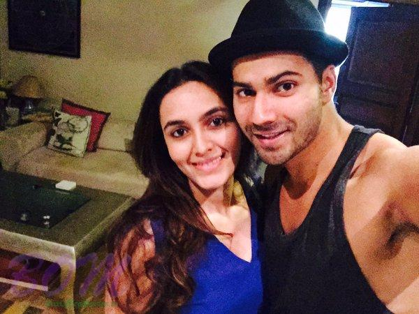 Varun Dhawan with his cute Bhabi.. says the person feeds us late at night