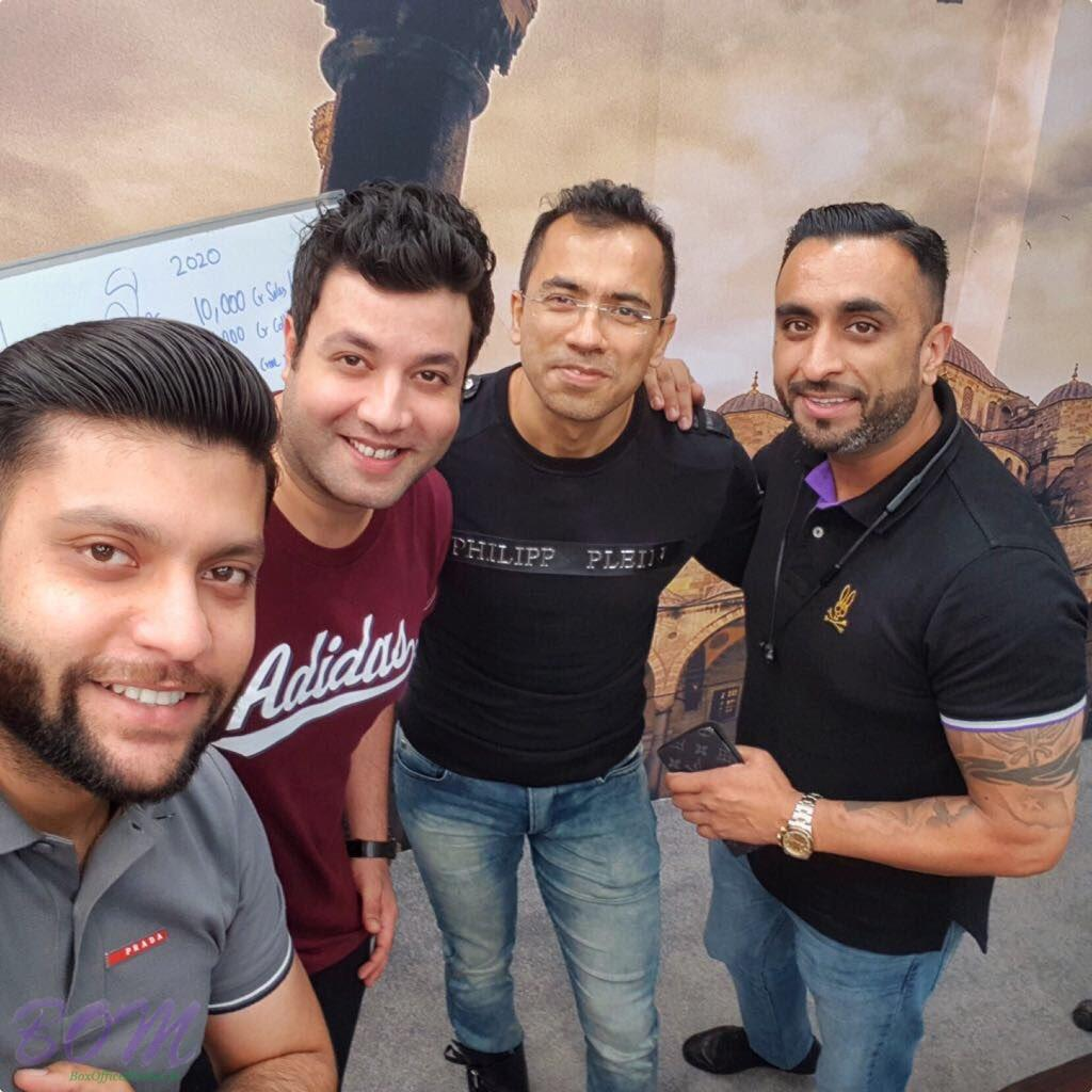 Varun Sharma with his friends