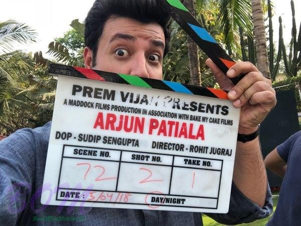 Varun Sharma with the clipper of Arjun Patiala