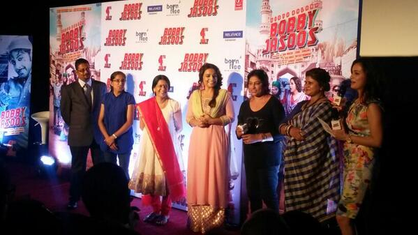 Vidya Balan launches the Bobby Jasoos trailer with real life detectives.