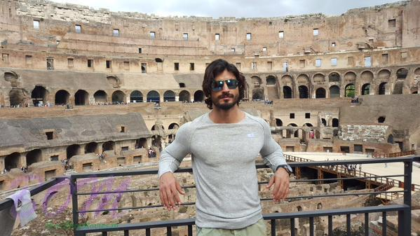 Vidyut Jammwal at the Colosseum in Rome