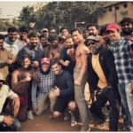 Vidyut Jammwal‏ with the team of Commando 3 movie