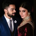 Virat Kohli and Anushka Sharma looking great from their engagement party