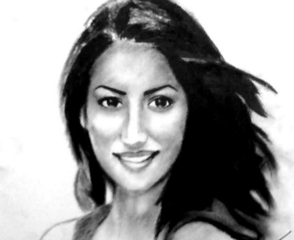 Yami Gautam - My 12 yr old brother,Ojas,drew this sketch of mine. Not only I was touched by his gesture but amazed at his precision