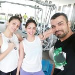 Yami Gautam and sister selfie with their fitness trainer