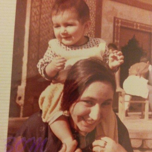 baby Huma Qureshi with her mother