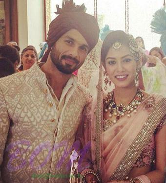 congratulation to Shahid and Mira on wedding