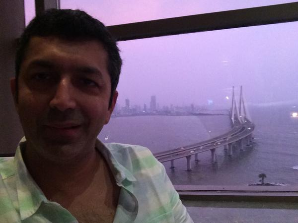 Kunal Kohli with Lovely view of the sea link