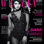 stunning Priyanka Chopra on Grazia Magazine cover page for 9 December 2014 issue